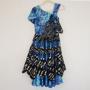 Chasing Fireflies blue & black butterfly dress 10